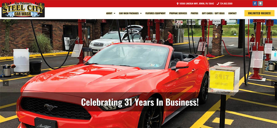 Support Local!  Take a look at Ron Palarino's Steel City Car Wash's new and improved…