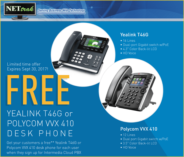 Switch to Cloud PBX (VoIP – Internet) and receive FREE premium 12 line phones for yo…